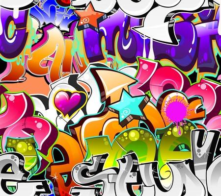 Graffiti Urban Art Achtergrond. Naadloos ontwerp