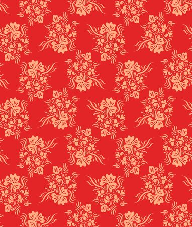 Seamless ornamental floral background Stock Vector - 12195943