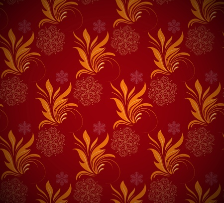 Seamless ornamental floral background Stock Vector - 12195909