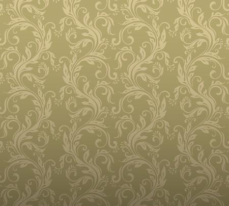 damast: Nahtlose dekorativen floralen Hintergrund Illustration