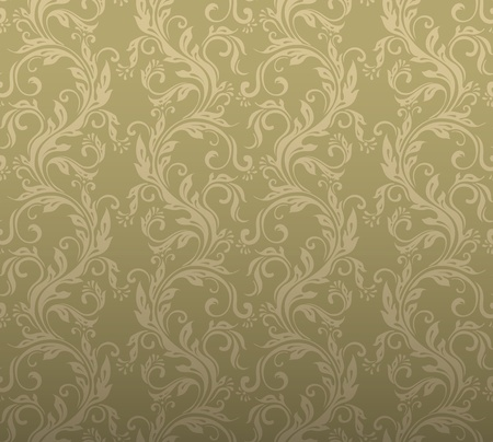 Seamless ornamental floral background Vector