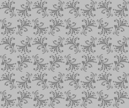 Seamless background floral texture, wallpaper design Vector