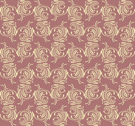 Seamless background floral texture, wallpaper design Vector