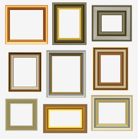 rectangle frame: Picture frames Illustration