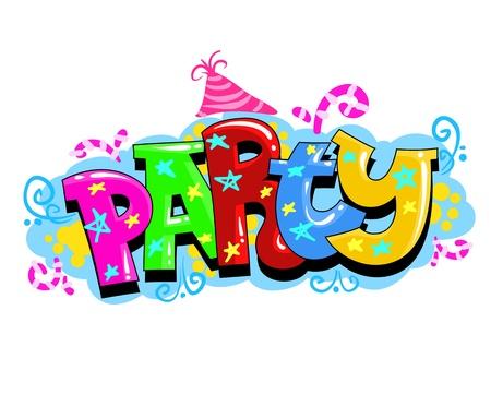 white party: Kid Partij Vector Uitnodiging