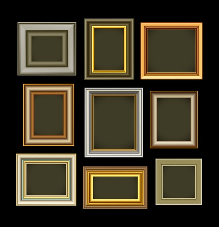 interior decoration: Photo picture frames vintage  Illustration