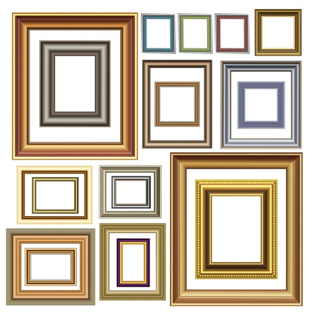 Picture photo frames  luxury vintage design Vector