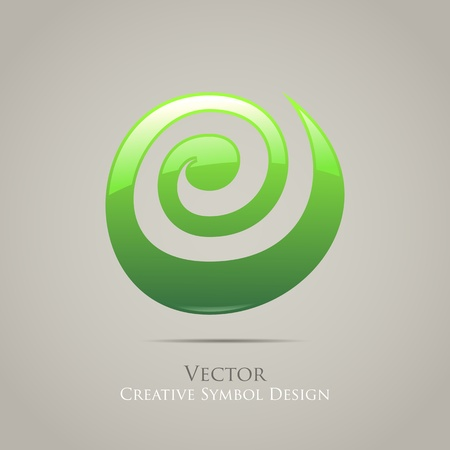 Creative Abstract Icon Symbol Graphic Illustration Vector