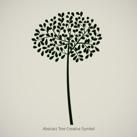 Illustration d'usine arbre. Symbole de conception abstraite de la nature Vecteurs