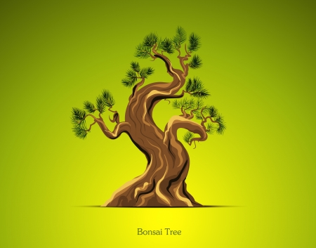 Bonsai Tree Background Vector