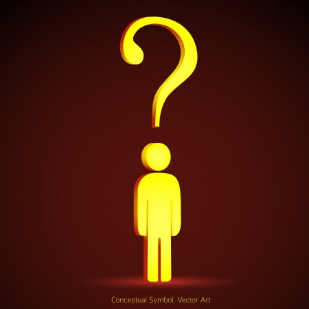 Question mark concept illustration symbol. Problem solution creative graphic icon Vector