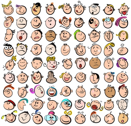 sketch child: People Expression Doodle Cartoon Icons