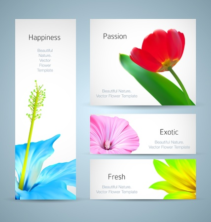 page decoration: Flower brochure background design. card template