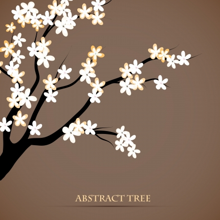 Beautiful background of blooming tree branch Vector