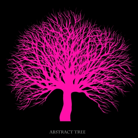 Abstract tree creative background Vector