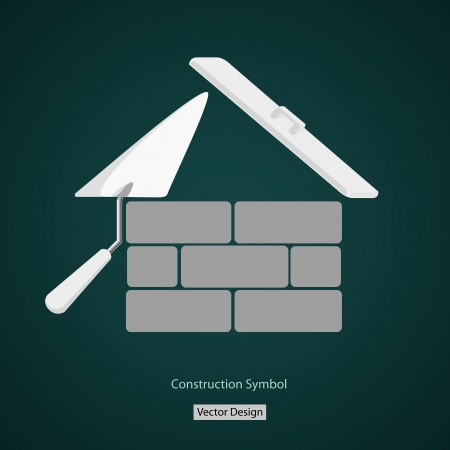 bricklayer: house building symbol creative design Illustration