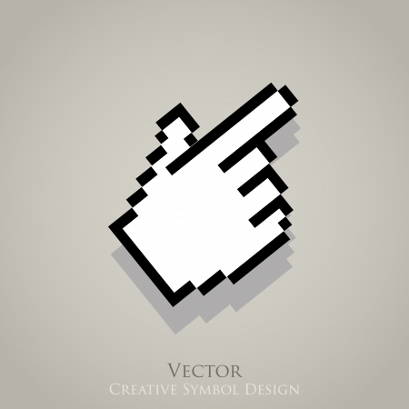Web cursor pointer icon. Click internet symbol Vector