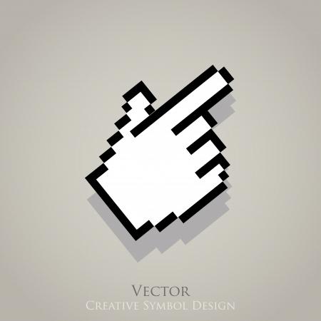 Web cursor pointer icon. Click internet symbol