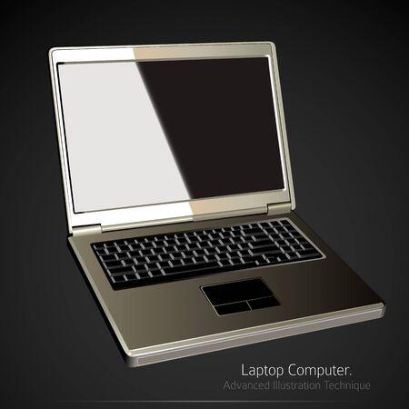 Laptop Computer Illustration Vector