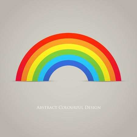 rainbow background: Trendy Rainbow Creative Icon Design