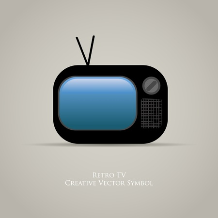 Web icon of retro tv design of old media movie symbol Vector