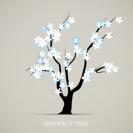 Tree blossom springtime art  Abstract plant graphic background Illustration