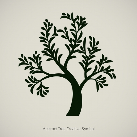 drawing trees: Tree branch silhouette graphic design
