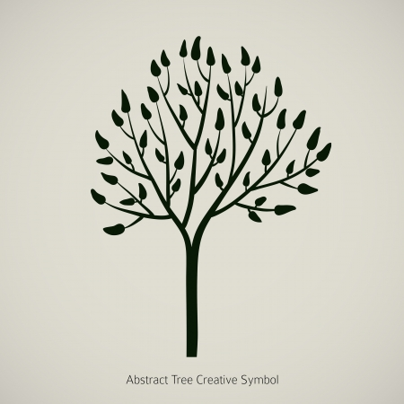 Tree silhouette icon design branch illustration Vector