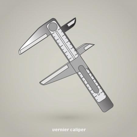pied   � coulisse: Vernier Caliper Ic�ne Illustration