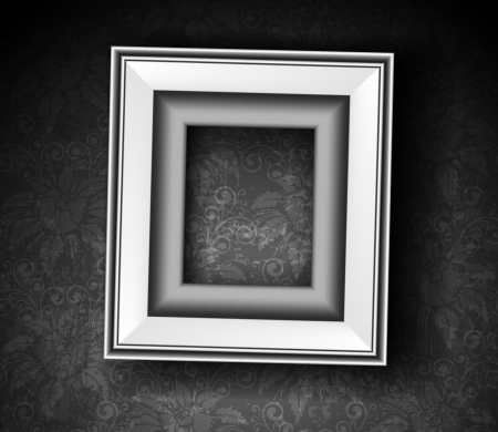 art gallery: Picture Frame Wallpaper Background  Photo Frame on Grunge Wall