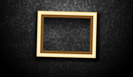 picture frame on wall: Picture Frame Wallpaper Background  Photo Frame on Grunge Wall