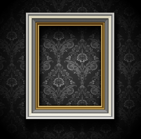 photo corner: Picture Frame Wallpaper Background  Photo Frame on Grunge Wall