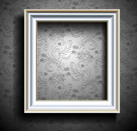 Picture Frame Wallpaper Achtergrond Photo Frame op Grunge Muur