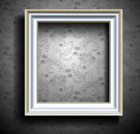 antique wallpaper: Picture Frame Wallpaper Background  Photo Frame on Grunge Wall