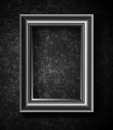 Picture Frame Wallpaper Background  Photo Frame on Grunge Wall Stock Vector - 14557725