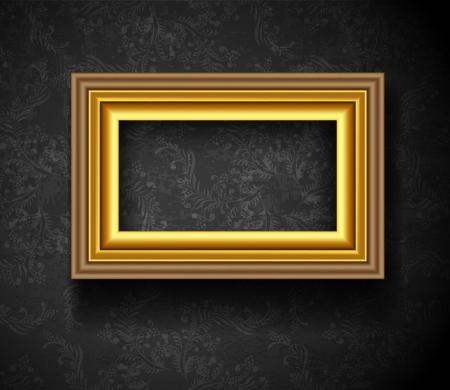 Cadre photo fond d'écran de Photo Frame sur le mur grunge