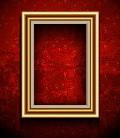 Picture Frame Wallpaper Background  Photo Frame on Grunge Wall Vector
