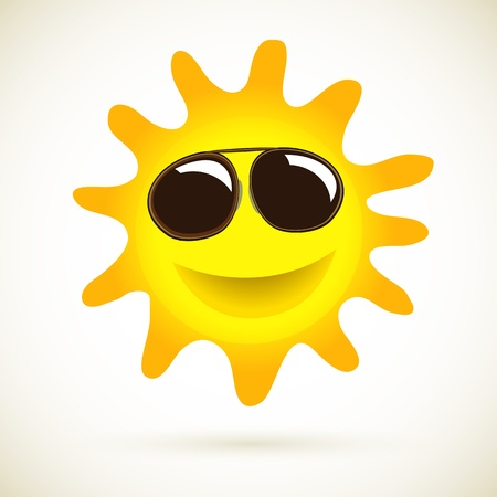 Sun Smile Summer Icon Vector