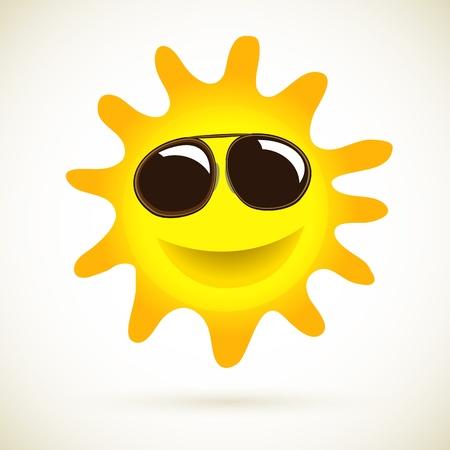 Sun Smile Summer Icon Vector