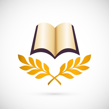 bible open: Open Book Icon. Education Creative Symbol Design Illustration