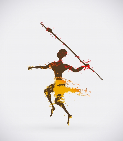 spear: Ethnic Creative Vector Icon, Tribal African Conceptual Illustration