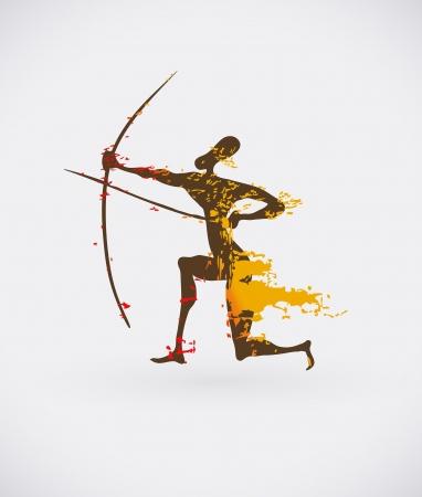 peinture rupestre: Icône ethnique Creative, tribal Illustration africaine conceptuel