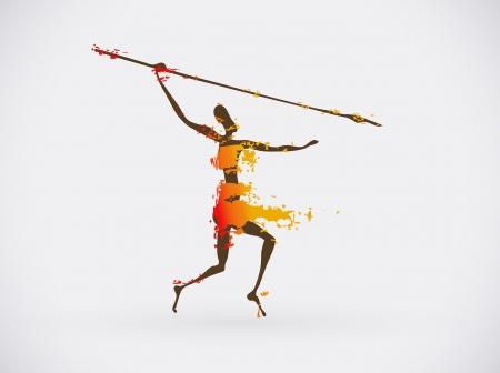 Ethnic Creative Icon, Tribal African Conceptual Illustration