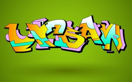 urban art: Graffiti Urban Art Design