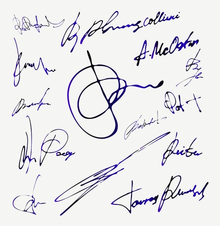 official record: Signature Autograph Name Illustration
