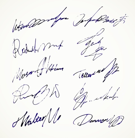 official record: Signature  Autograph Name