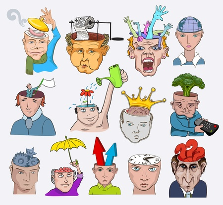 Creative design  illustration. People characters concepts icons Vector