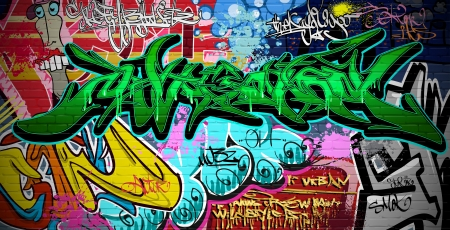 Graffiti wall urban art Stock Vector - 15654650