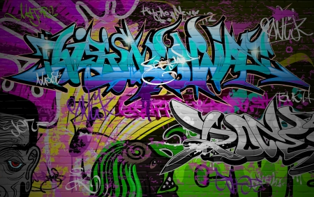 graffiti art: Graffiti wall urban art