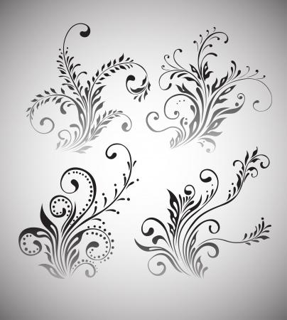 Vintage floral elements design Stock Vector - 15706523